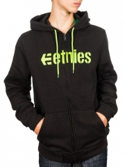 Bluza Etnies Corporate Zip Fleece Black / Green