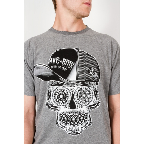 Koszulka AveBmx x Rush Heather Grey