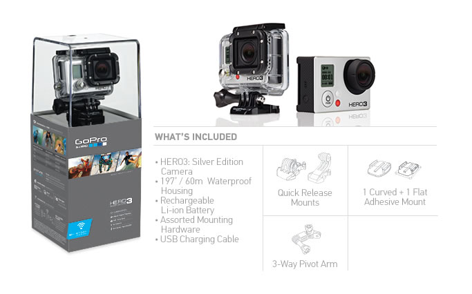 kamera gopro hd hero 3 silver edition sklep avebmx. Black Bedroom Furniture Sets. Home Design Ideas